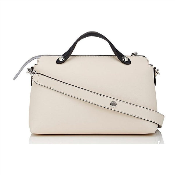 Fendi By The Way Cream / Navy Calfskin Leather Bag