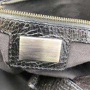 Fendi Distressed Brown/Gold Leather Tote