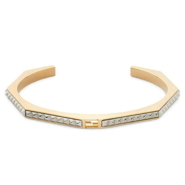 Fendi Gold/Silver Baguette Bangle Bracelet