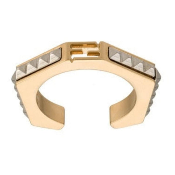 Fendi Gold/Silver Baguette Ring