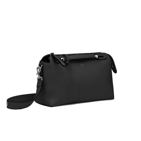 Fendi Small Boston Black Leather Bag