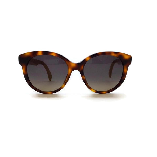 Fendi Tortoise Shell / Yellow Side Stripe Sunglasses