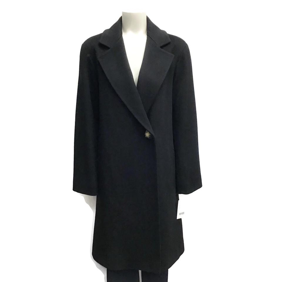Fleurette Black Long Wool Coat