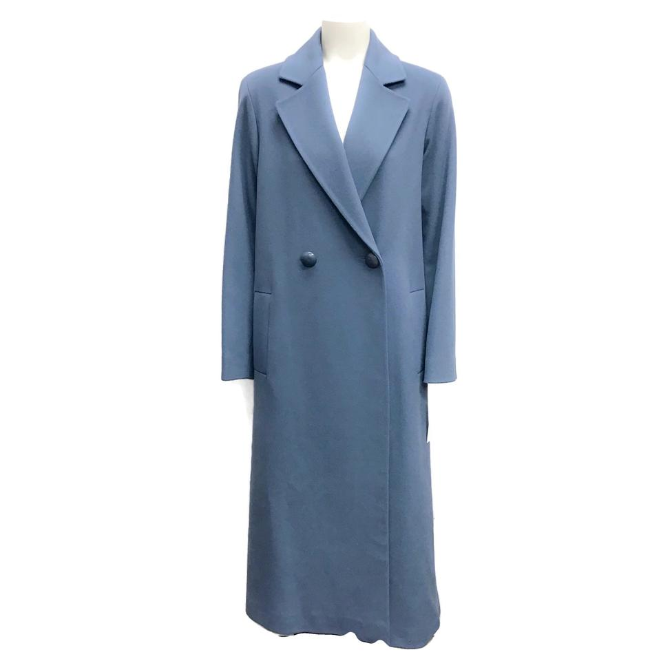 Fleurette Light Blue Long Wool Coat
