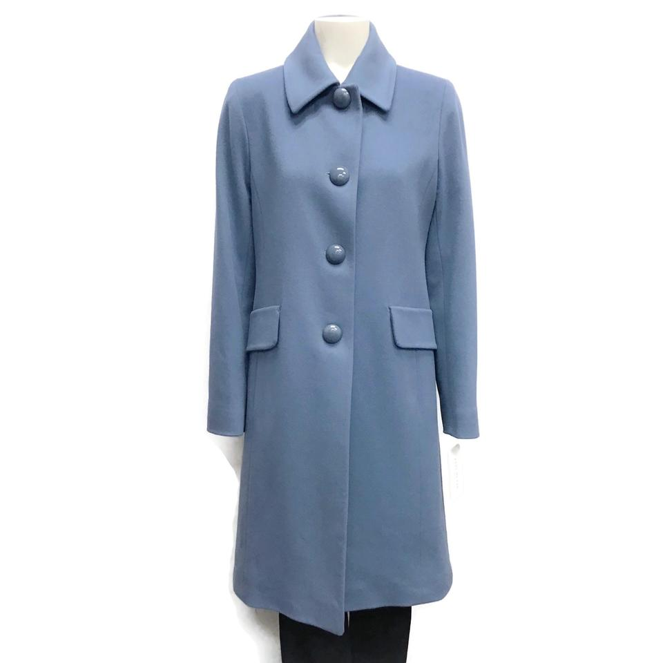 Fleurette Light Blue Wool Coat