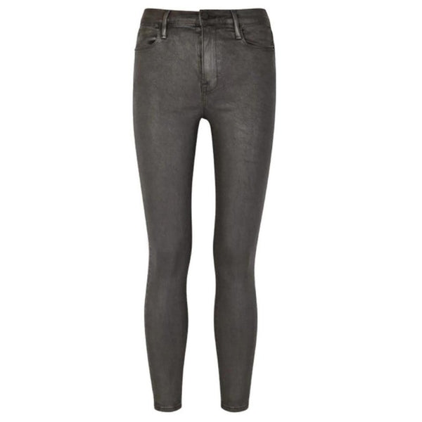 FRAME Grey Coated Le High Skinny Jeans
