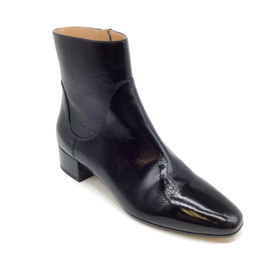 Francesco Russo Black Patent Leather Booties