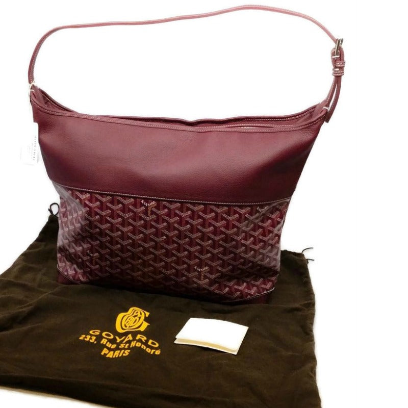 Goyard Grenadine Bordeaux Cowhide Leather Hobo Bag