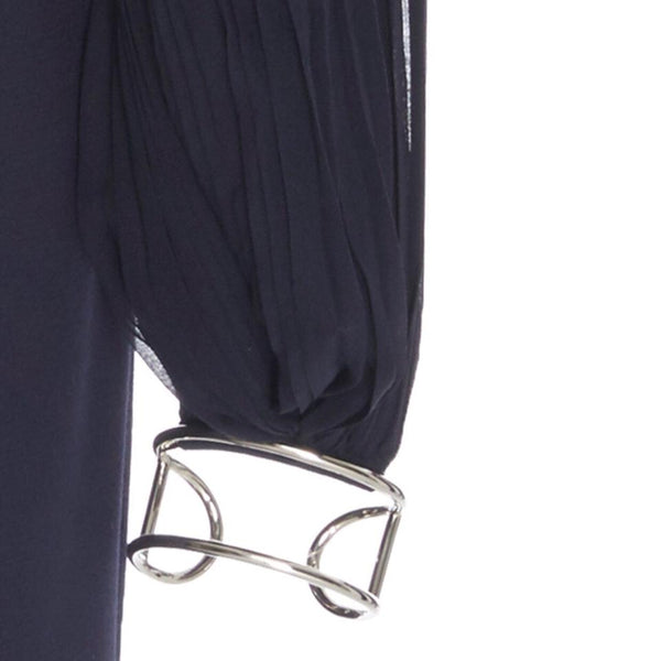 Gabriela Hearst Navy Bracelet Dress