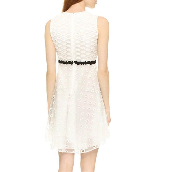 Giamba Ivory Embroidered Heart Dress