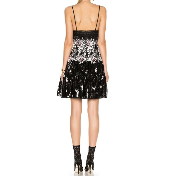 Giambattista Valli Black Sequin Bodice Dress