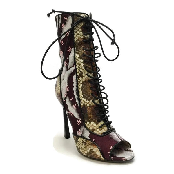 Giambattista Valli Multicolored Brocade Snake Boots