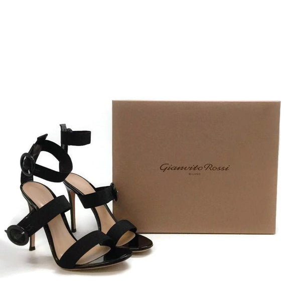 Gianvito Rossi Black Rya Sandals