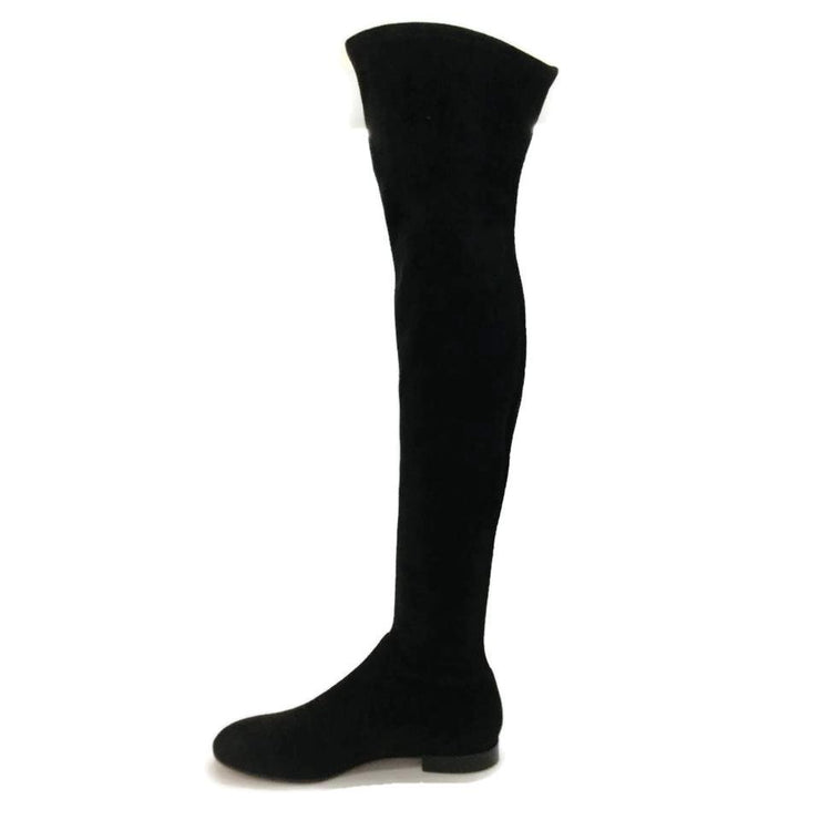 Gianvito Rossi Black Suede Over The Knee Boots