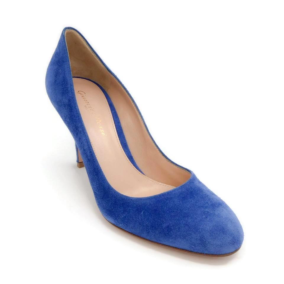 Gianvito Rossi Blue Florence 85 Pumps