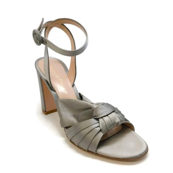 Gianvito Rossi Grey / Satin Loren 85 Sandals