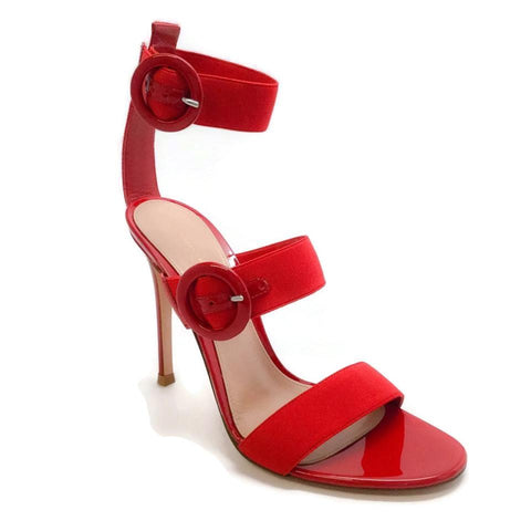 Gianvito Rossi Red Rya Sandals