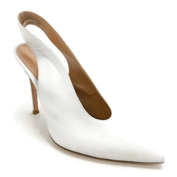 Gianvito Rossi White Delta Pumps