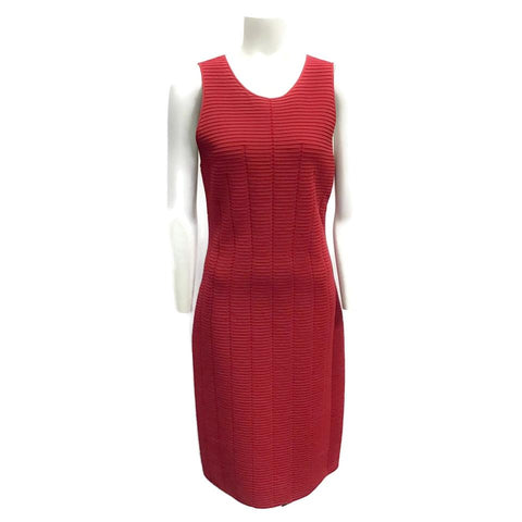 Giorgio Armani Red Ribbed Dress
