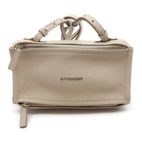 Givenchy Mini Pandora Off White Goat Skin Leather Cross Body Bag
