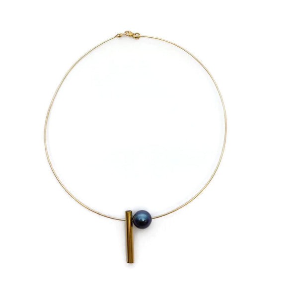 Holly Ryan Gold / Pearl Pop and Drop Necklace