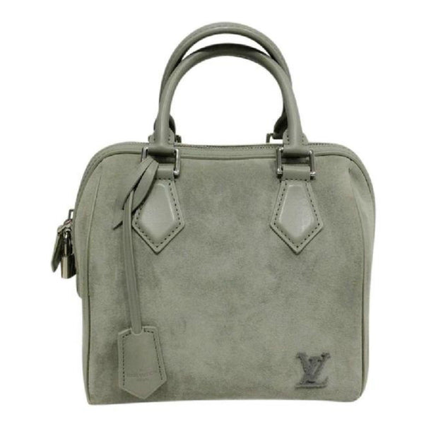 Limited Edition Grey Suede Illusion Speedy PM Satchel by Louis Vuitton