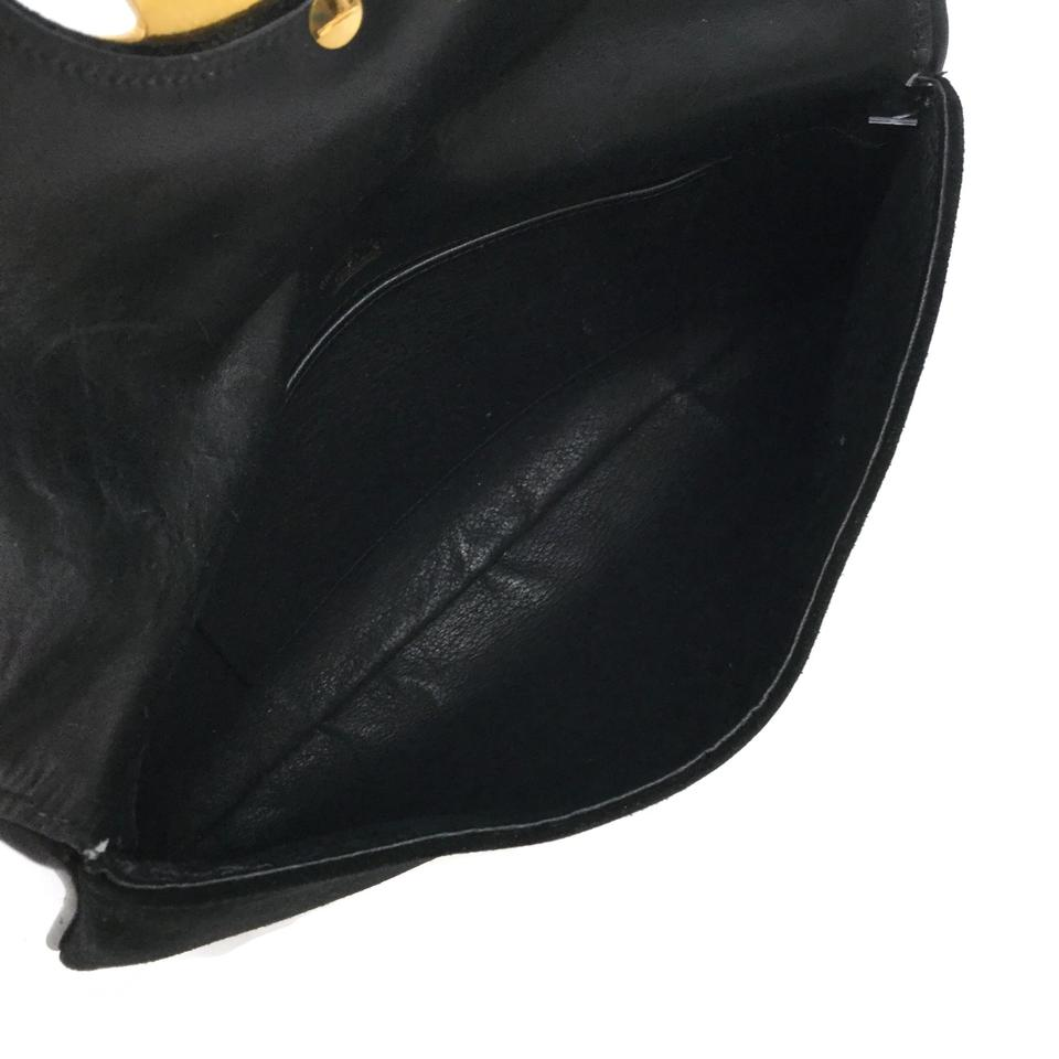 Gucci Vintage Black Suede Clutch