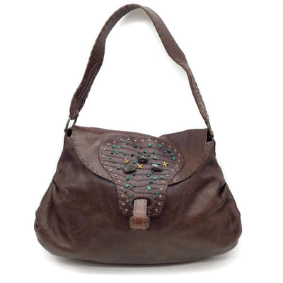 Henry Beguelin Brown Leather Shoulder Bag