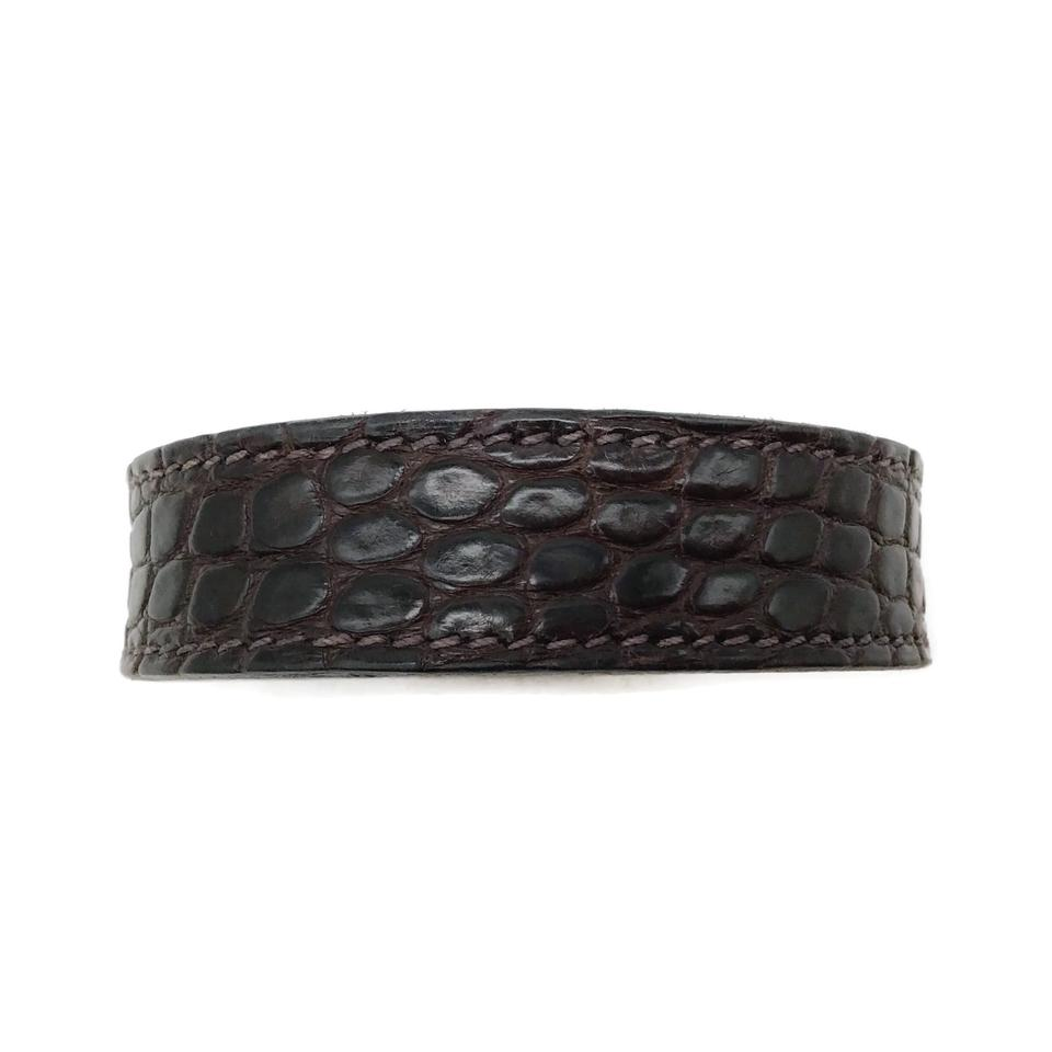 Hermès Brown Crocodile Bracelet