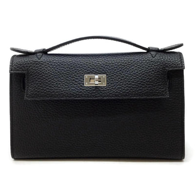 Hermès Kelly Pouchette Black Leather Satchel