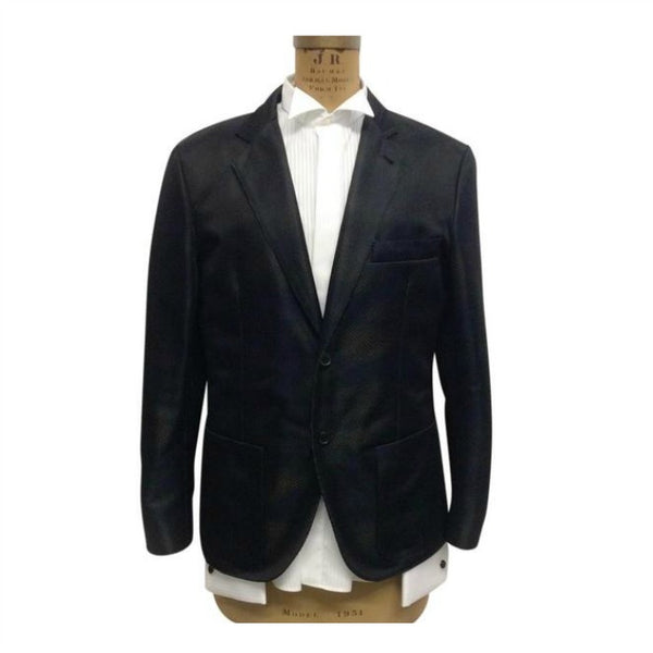 24 Relax Shadow Chevron Black Blazer by Hermes