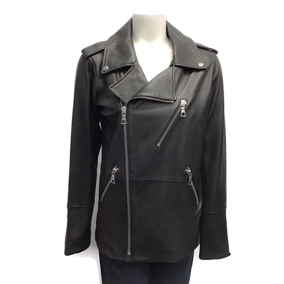 J Brand Black Moto Leather Jacket