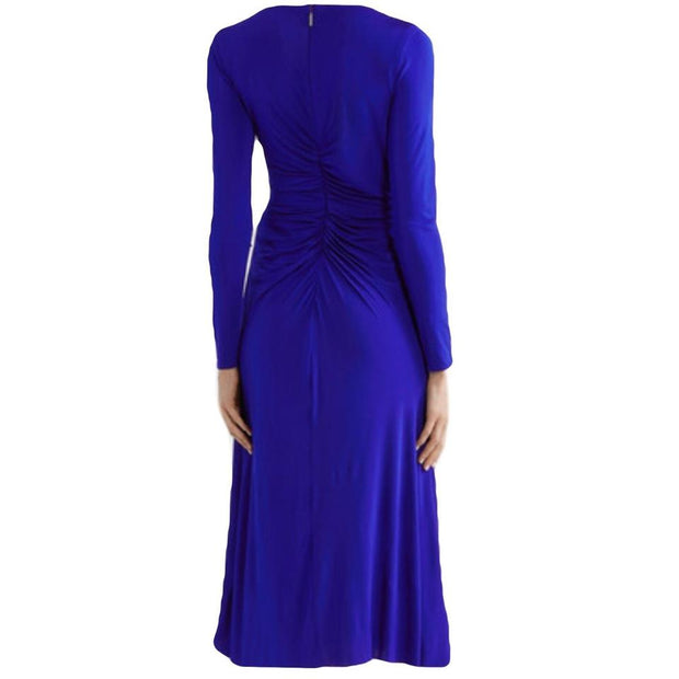 Jason Wu Cobalt Jersey Twist Front Stretch Dress