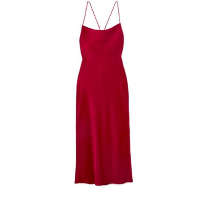Jason Wu Red Satin Crepe Back Cocktail Dress