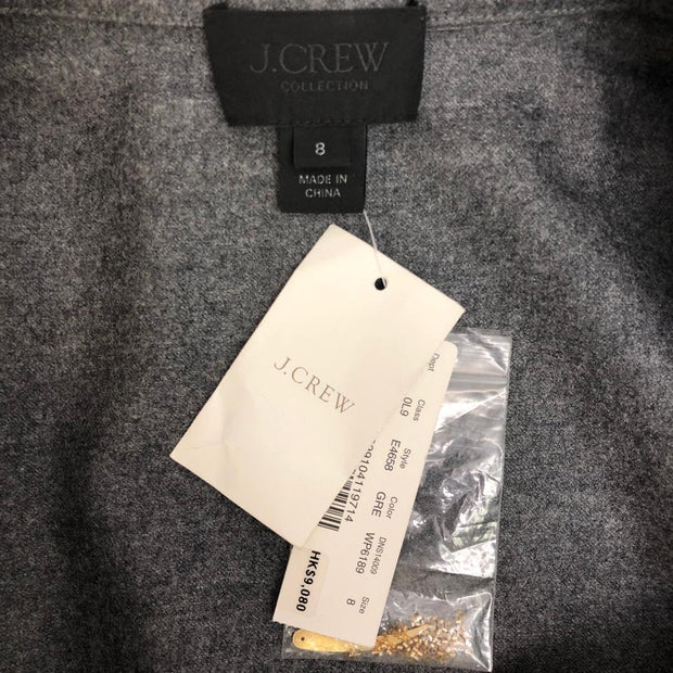 J.Crew Gray with Gold Embellishments Wool Polo Top