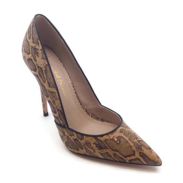 Jean-Michel Cazabat Tan Leopard Cork Pumps