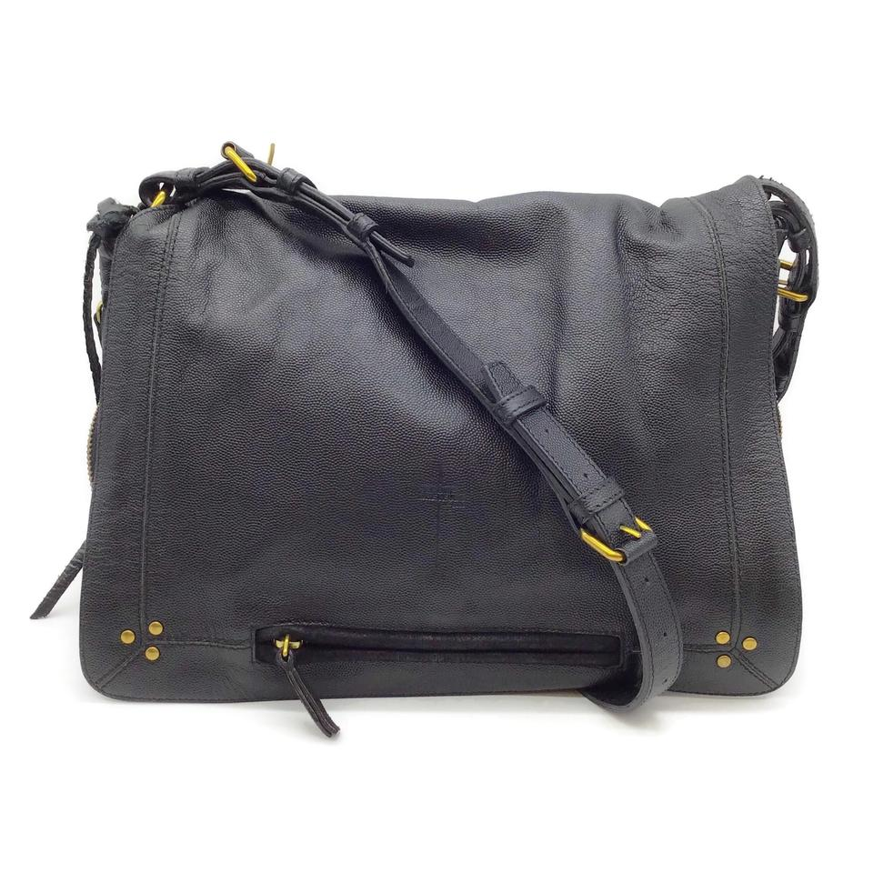 Jérôme Dreyfuss Flap Black Leather Shoulder Bag