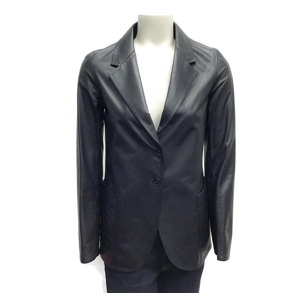 Jil Sander Black Lamb Leather Jacket