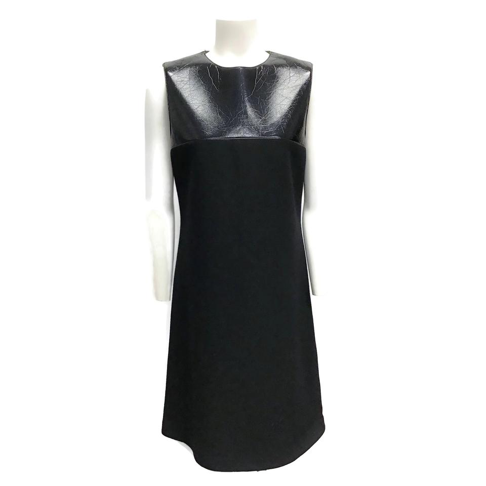 Jil Sander Black Patent/Knit Dress