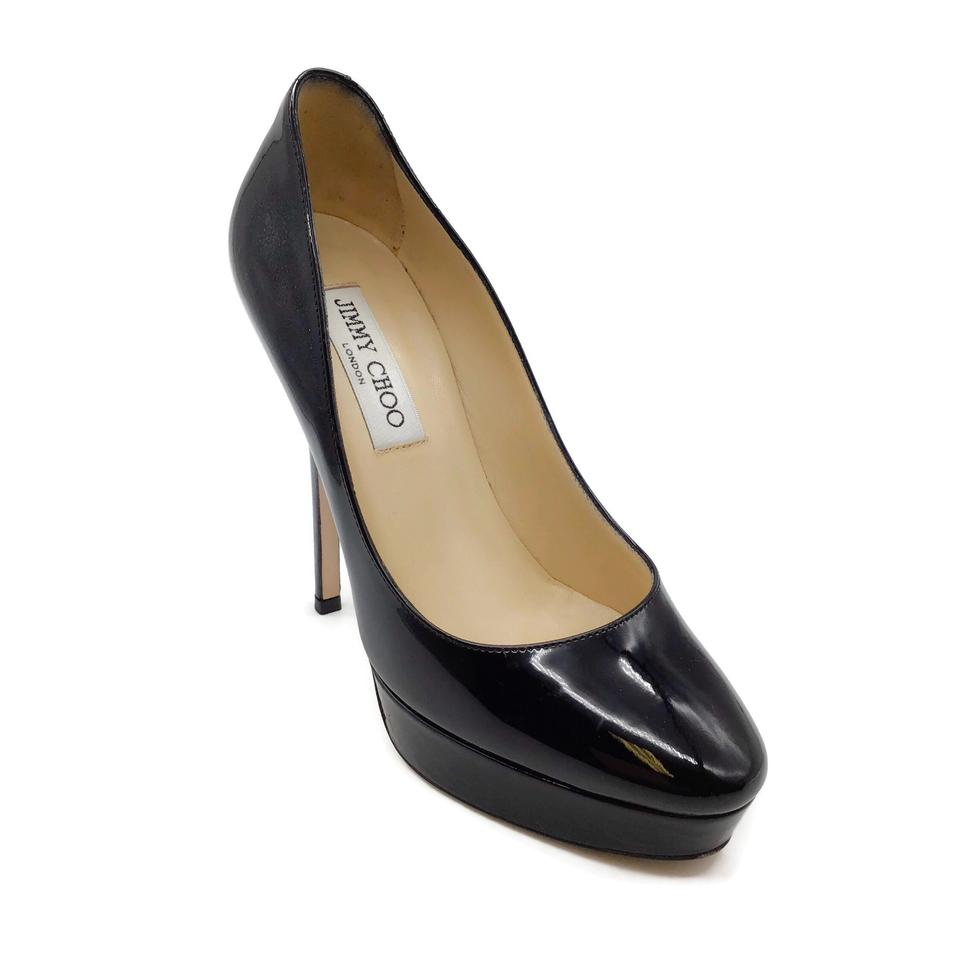 Jimmy Choo Black Patent Leather Platform Pumps