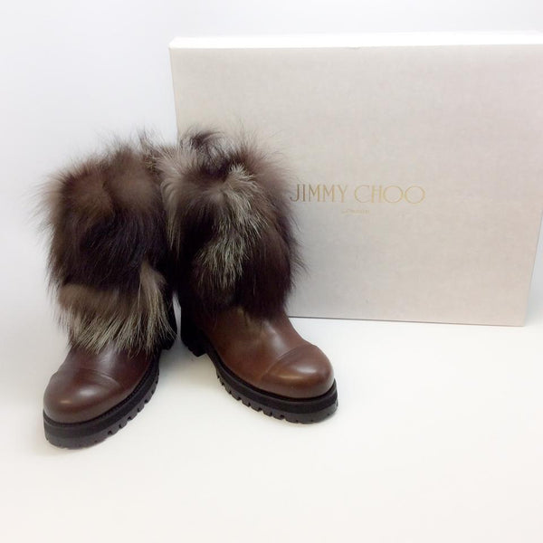 Dana Brown Boots by Jimmy Choo with box
