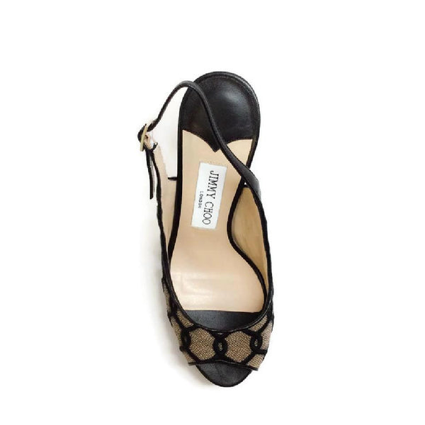 Verity Black / Nude Platforms by Jimmy Choo top