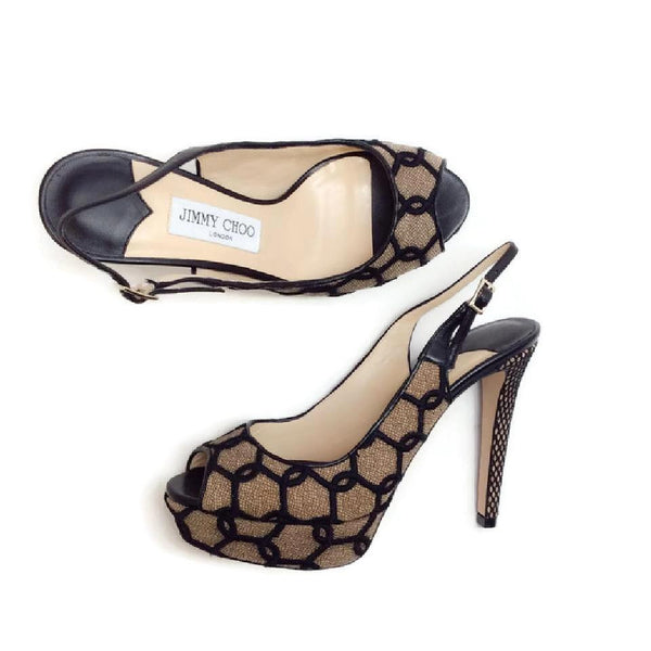 Verity Black / Nude Platforms by Jimmy Choo pair