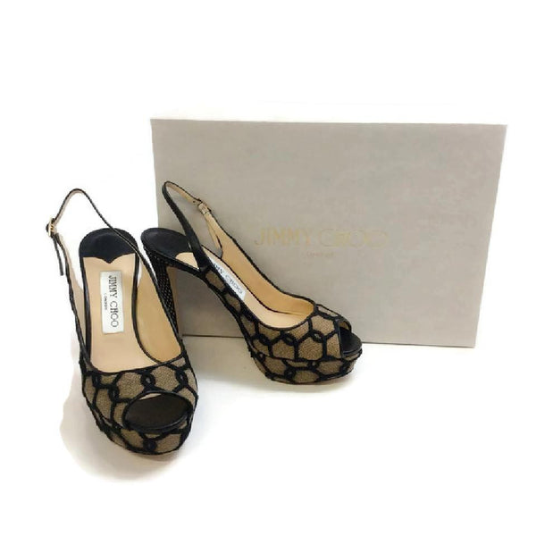 Verity Black / Nude Platforms by Jimmy Choo with box