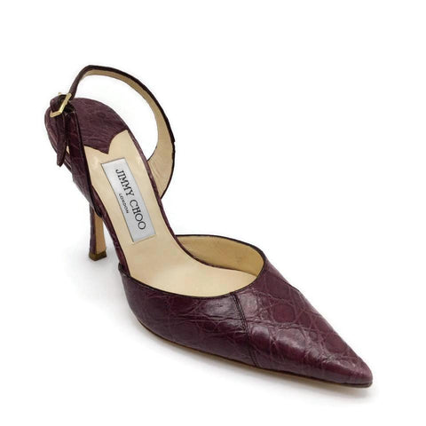 Jimmy Choo Purple Crocodile Skin Pumps