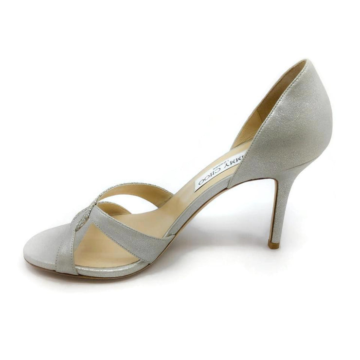 Jimmy Choo Silver Shimmer Pumps