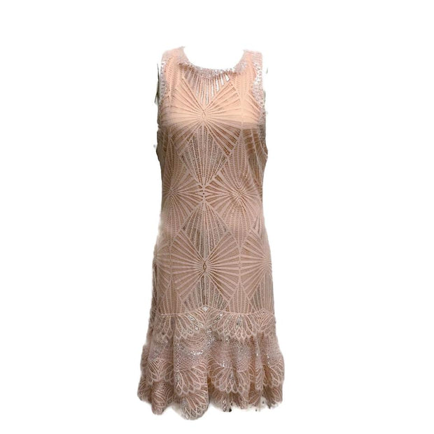 Jonathan Simkhai Nude/Silver Lace Dress