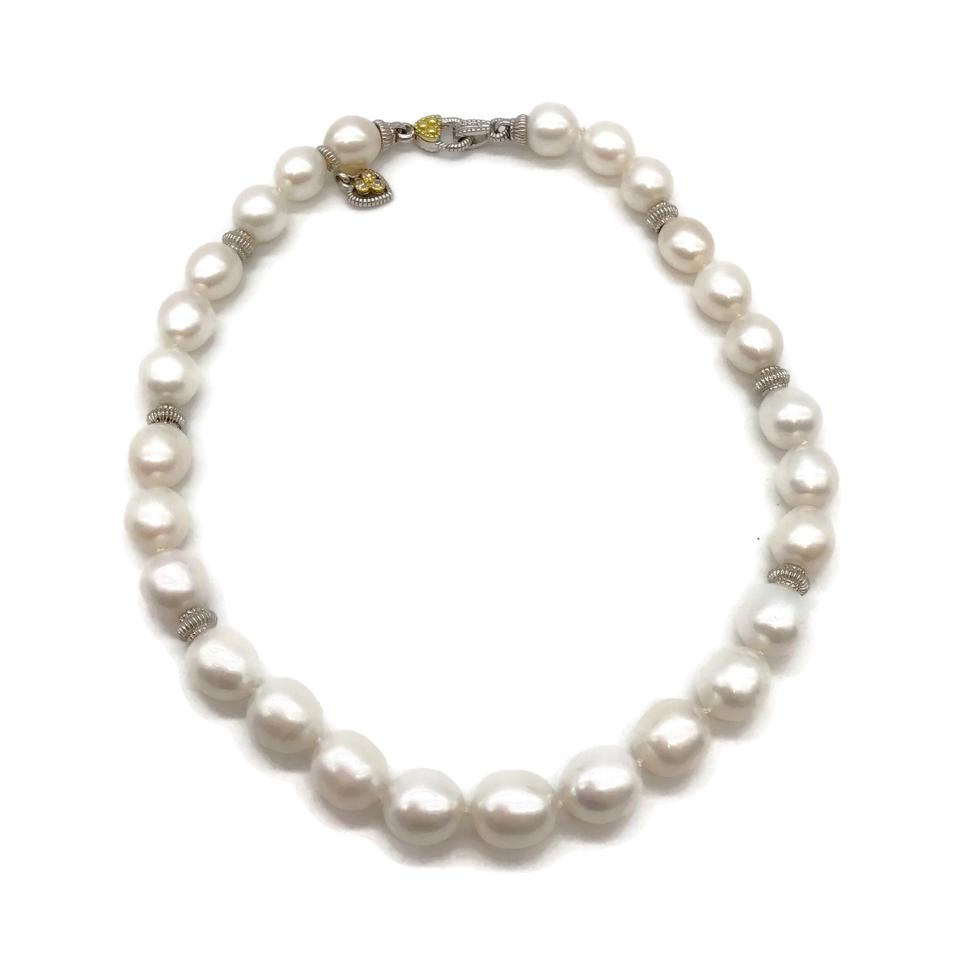 Judith Ripka Pearl Sterling/18k Necklace