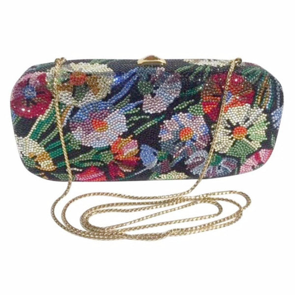 Floral Clutch Multi by Judith Leiber