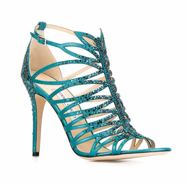 Kaye Teal Sandals by Jimmy Choo
